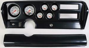 70 72 Gto Carbon Dash Carrier W Auto Meter Phantom Electric Gauges