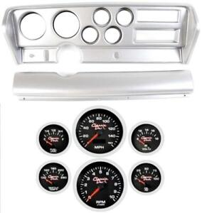70 72 Gto Silver Dash Carrier Concourse Black Face Gauges