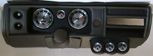 68 Chevelle Black Dash Carrier W Auto Meter 5 American Muscle Gauges No Astro