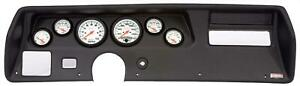 70 72 Chevelle Ss Black Dash Carrier W Auto Meter Phantom Electric Gauges