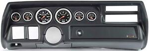 70 72 Chevelle Sweep Black Dash Carrier Auto Meter Sport Comp Mechanical Gauges