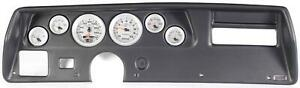 70 72 Chevelle Ss Black Dash Carrier W Auto Meter Ultra Lite Ii Gauges