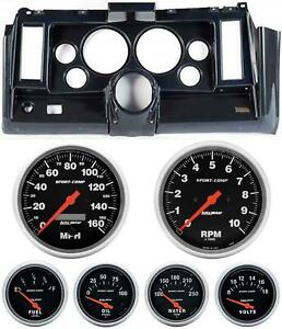 69 Camaro Carbon Dash Carrier W Auto Meter Sport Comp Electric 5 Gauges