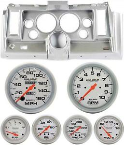69 Camaro Silver Dash Carrier W Auto Meter Ultra Lite Mechanical 5 Gauges