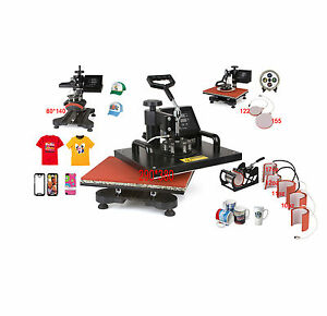 Toworldwide 9 In 1 Heat Press Machine Digital Tshirt Printing Machine heat Press