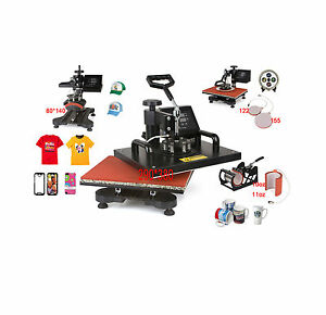 New Design 6 In 1 Cheap Heat Press Machine Digital Tshirt Printing Machine