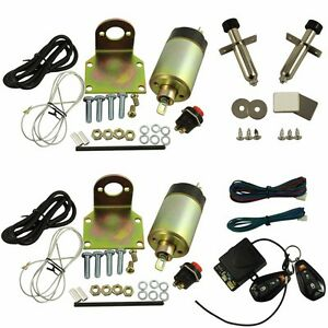 2 Doors Popper Solenoid Street Rat Hot Rod Car Truck 85lb Shaved Door Handle Kit