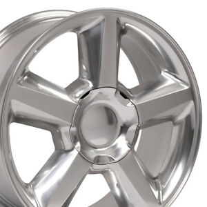 22 Tahoe Wheels Polished 22x9 Set Of 4 Rims Fit Chevrolet Gmc Cadillac Cp