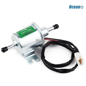 12v Electric Fuel Pump Low Pressure Bolt Fixing Wire Diesel Petrol Hep 02a