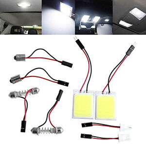 Hid White 24cob Led Panel Bulb Bright Car Interior Trunk Inner Dome Lamp Trendy