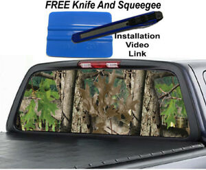 Real Tree Camo Rear Window Decal Sticker Graphic Car Truck Suv Van
