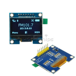 1 3 Blue Spi Serial 128x64 Oled Lcd Display Screen Module For Arduino New