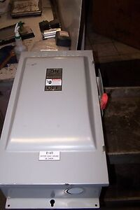 Siemens 200 Amp Non fused Safety Switch 600 Vac 150 Hp 3 Phase Type 3r Hnf364j