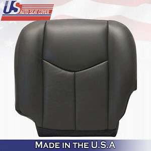 2003 2004 2005 2006 Gmc Sierra Driver Bottom Vinyl Seat Cover Dark Gray