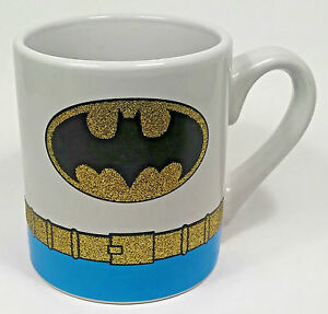 DC Comics Batman Coffee Mug Cup 14oz Glitter Belt