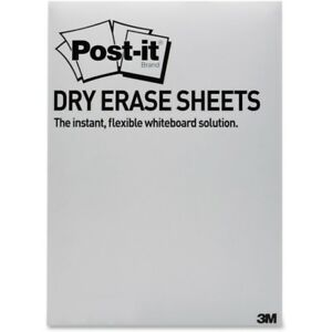Post it Super Sticky Self stick Dry Erase Sheets 7 In X 11 3 In White