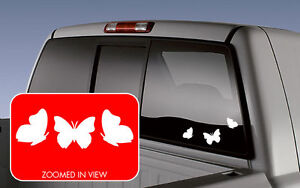 Butterfly 3 Pack Cute Vinyl Decal Sticker Window Car Suv Truck Jdm Laptop