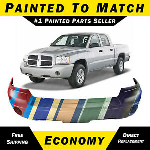 New Painted To Match Front Bumper Cover For 2005 2006 2007 Dodge Dakota Truck