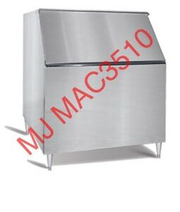 New Maxx Ice Bin650 Ice Storage Bin W Warranty 650lb Stainless Steel Bin