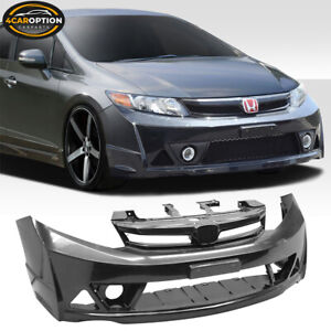 Fits 12 14 Honda Civic Sedan 4dr Mugen Style Front Bumper Conversion Usdm Only