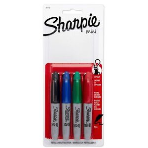 Sharpie Mini Fine point Permanent Markers Assorted Colors 4 Ea pack Of 5