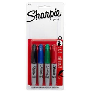Sharpie Mini Fine point Permanent Markers Assorted Colors 4 Ea pack Of 8