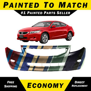 New Painted To Match Front Bumper Cover For 2008 2010 Honda Accord Coupe 2 Dr