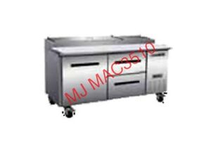 New Maxx Cold M Mxcpp70 dr Commercial Pizza Prep Table Refrigerator Cooler