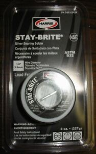 Harris Stay brite Silver Bearing Solder 1 8 8 Ounces