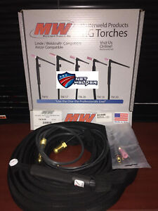 Masterweld Wp20 25 Tig Torch 25 tigmaster Water cooled 250a Made In Usa