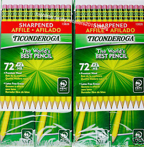 Ticonderoga Sharpened Pencils 2 Hb Premium Wood Latex Free Eraser 144 Count