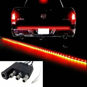 60 Redline Led Pickup Truck Tailgate Reverse Brake Turn Signal Tail Light Bar