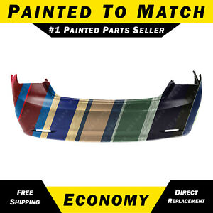 New Painted To Match Rear Bumper Cover Replacement For 2011 2013 Hyundai Sonata