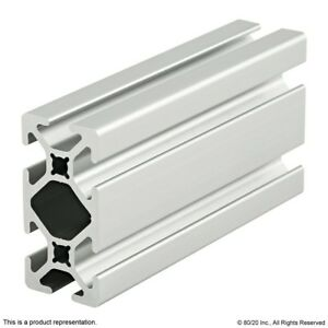 8020 Inc 10 Series 1 X 2 Smooth Slot Aluminum Extrusion 1020 s X 96 5 Long N