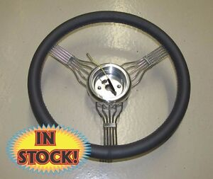 Banjo ch 15 Banjo Style Steering Wheel With Adapter In Charcoal Leather