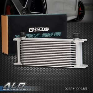 Gplus 16 Row An 10 Universal Engine Transmission Aluminum Oil Cooler Silver