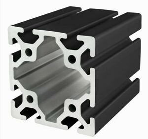 80 20 Inc 80mm X 80mm T slot Aluminum 40 Series 40 8080 black X 1525mm Long N