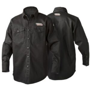 Lincoln Electric Black Fr Welding Shirt K3113 L Xl 2x