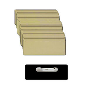 Blank Gold Name Badge Kit a 1 1 2 X 3 Badges 25 Tags Labels 1 8 Corners Pins