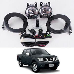05 14 For Nissan Frontier Navara D40 Clear Lens Fog Light Kit Lamp Abs Bumper