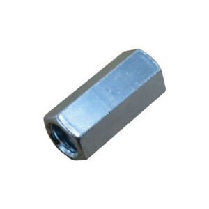 1 8 Zinc Plated Threaded Rod Couplings pack Of 12