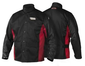 Lincoln Electric Shadow Grain Leather Sleeved Welding Jacket K2