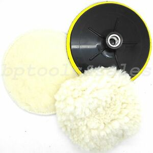 7 Electric Car Polishing Wheel Buffing Soft Quick Fit Backing Bonnet Pads