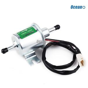 New 12v Electric Fuel Pump Low Pressure Bolt Fixing Wire Diesel Petrol Hep02a
