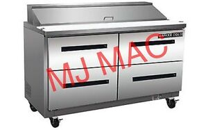 New Maxx Cold M Mxcr60s dlr Commercial Sandwich Prep Table Refrigerator Cooler