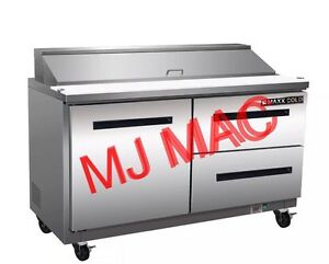 New Maxx Cold M Mxcr60s dr Commercial Sandwich Prep Table Refrigerator Cooler