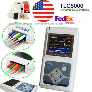 12 Channels Contec Hand held Ecg ekg Holter Monitoring Recorder System ce fda us