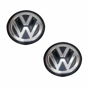 2 Vw Golf Bora Passat Jetta Remote Key Fob Logo Emblem Sticker Badge 14mm Black