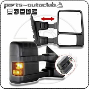 Towing 2003 07 Ford F250 f350 Super Duty Power Heated Signal Side Mirrors Pair