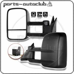 For 88 98 Chevy gmc C k 1500 2500 3500 Truck Manual Towing Side Mirrors Pair Set